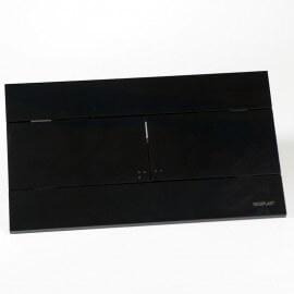 Plaque rectangulaire Noire brillante