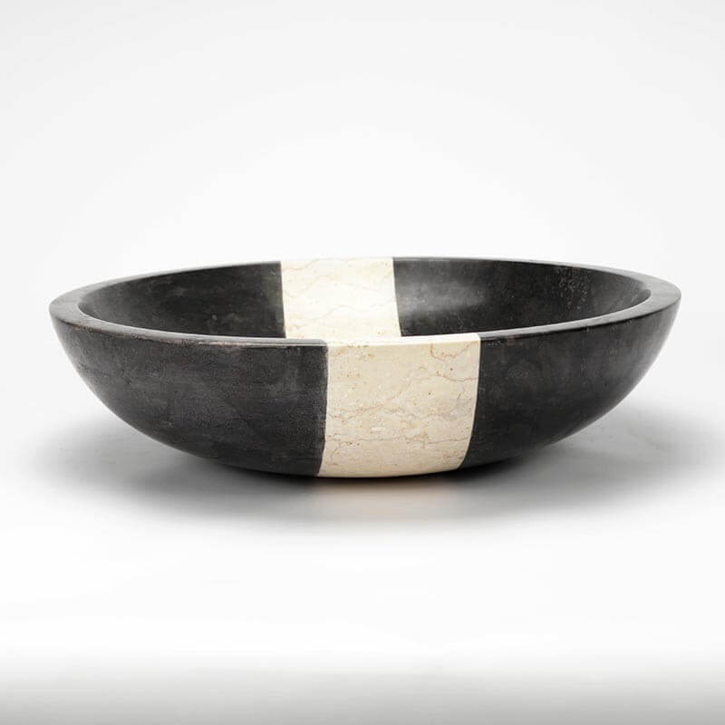 vasque poser ronde pierre noire edo vasque noire rue. Black Bedroom Furniture Sets. Home Design Ideas