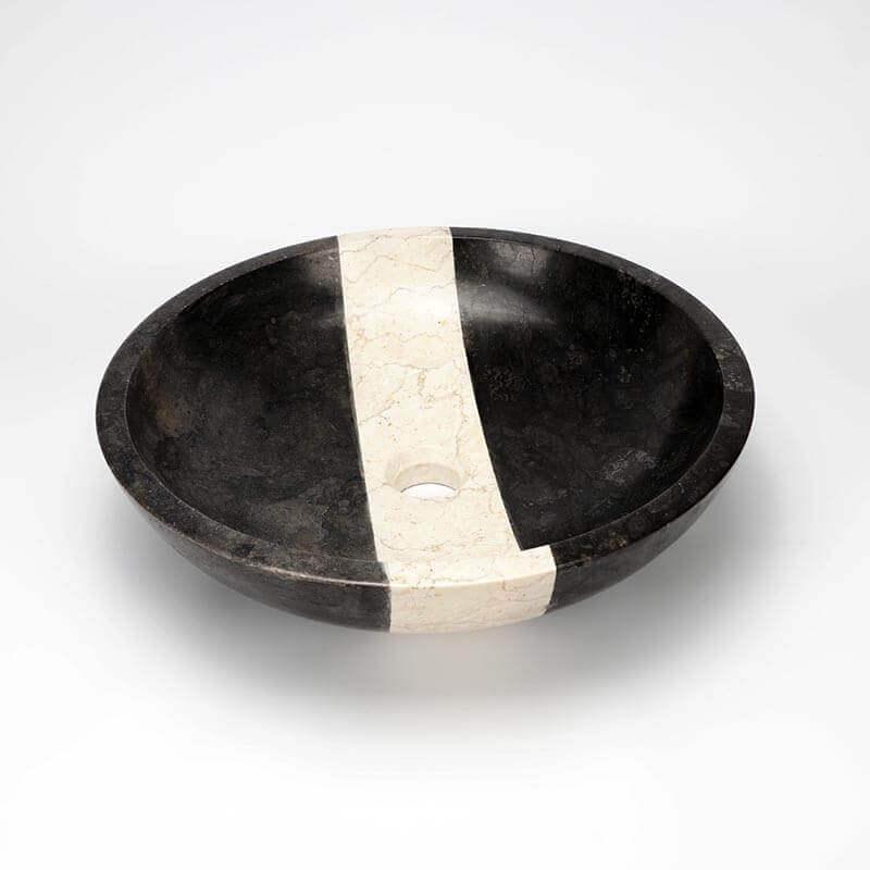vasque poser ronde pierre noire edo vasque noire rue du bain. Black Bedroom Furniture Sets. Home Design Ideas