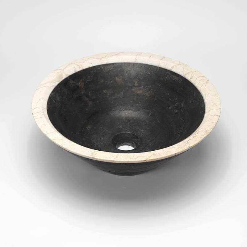 vasque poser ronde pierre noire elite vasque noire. Black Bedroom Furniture Sets. Home Design Ideas