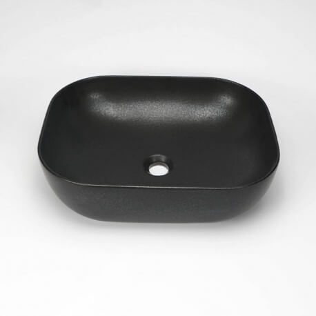 Vasque à Poser Rectangulaire - Céramique Noir Mat - 49x39 cm - Maze