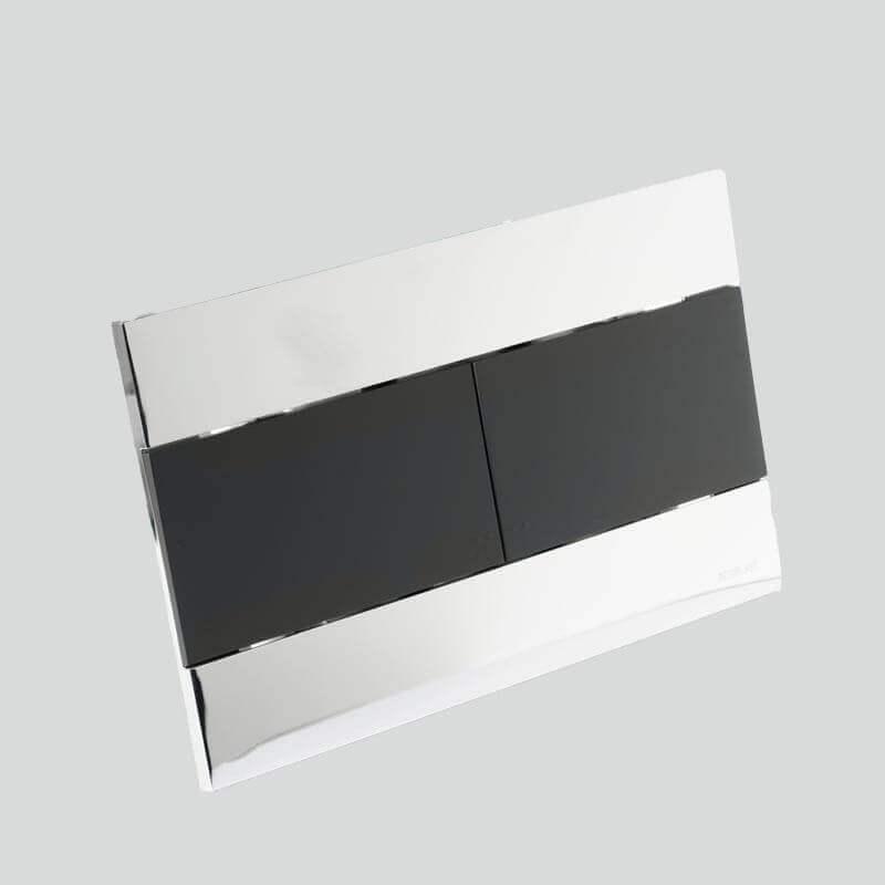 plaque commande argent et noire bati support rue du bain. Black Bedroom Furniture Sets. Home Design Ideas