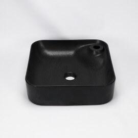 Vasque à poser carrée noir mat Trend - Vasque noire   Rue du Bain