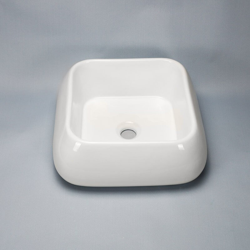 vasque c ramique blanche cube vasque poser carr e rue du bain. Black Bedroom Furniture Sets. Home Design Ideas