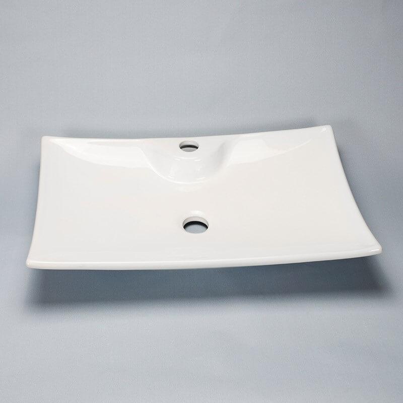 vasque rectangle blanche scala vasque poser c ramique rue du bain. Black Bedroom Furniture Sets. Home Design Ideas