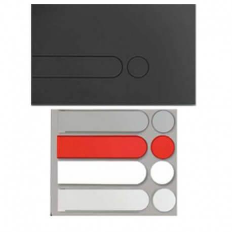 Plaque rectangulaire noire + kit couleurs pour Bâti-support
