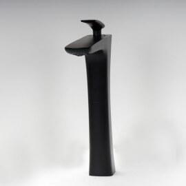 Robinet lavabo noir bec haut | Rue du Bain