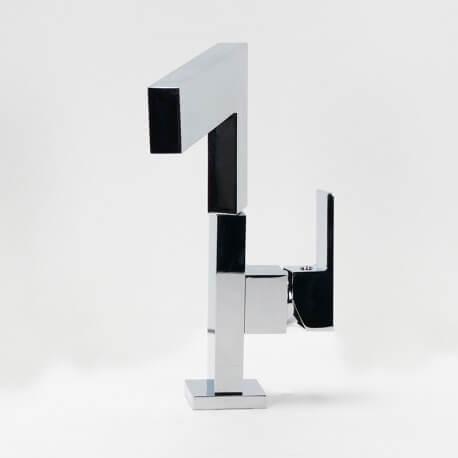 Robinet mitigeur lavabo cuisine design chromé noir blanc graphic | Rue du Bain