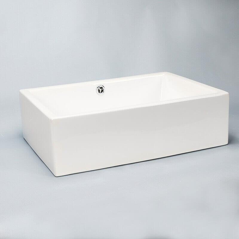 vasque rectangulaire blanc line vasque poser c ramique rue du bain. Black Bedroom Furniture Sets. Home Design Ideas