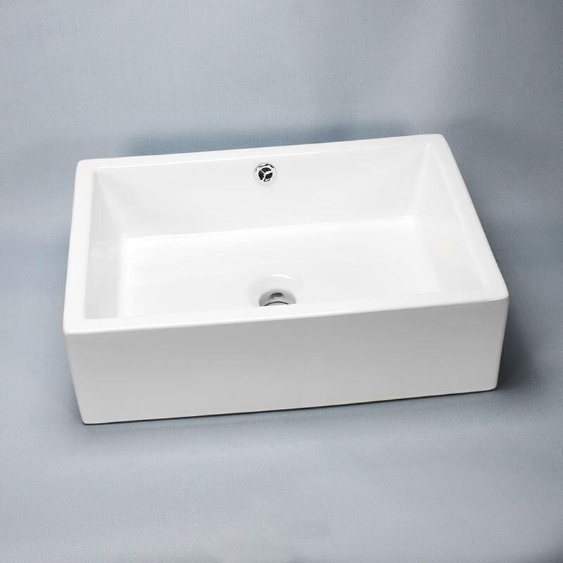 vasque a poser ceramique rectangulaire ... Vasque à poser rectangulaire céramique Line | Rue du Bain ...