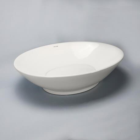 Vasque à poser ovale avec cache bonde céramique Dump | Rue du Bain