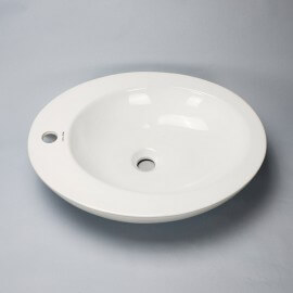 Vasque à poser ovale céramique | Rue du Bain