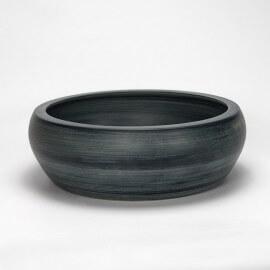 Vasque à poser grise galet céramique - 41x41 cm - Glade