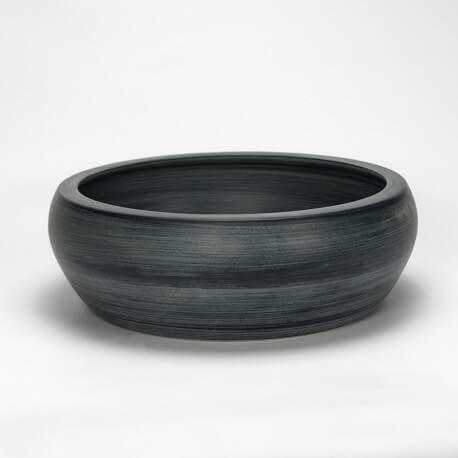 vasque grise bol, céramique, glade - vasque à poser ronde|rue du bain