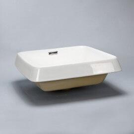 Vasque semi encastrée carrée céramique | Rue du Bain