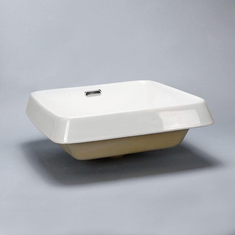 Vasque semi encastr e carr e club vasque encastrer for Baignoire semi encastrable
