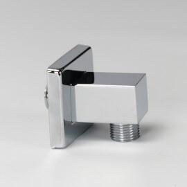 Prise d'eau carrée pour flexible de douche chromé | Rue du Bain