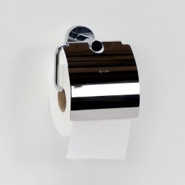 Distributeur de Papier avec couvercle, Chromé, Charm