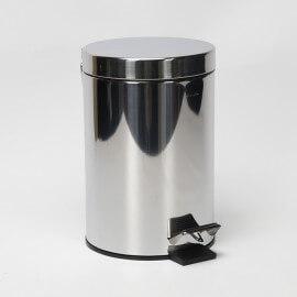 Poubelle à Pédale, Chromée, 3 litres