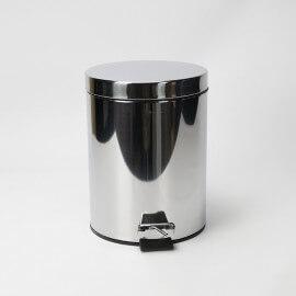 Poubelle à Pédale, Chromée, 7 litres