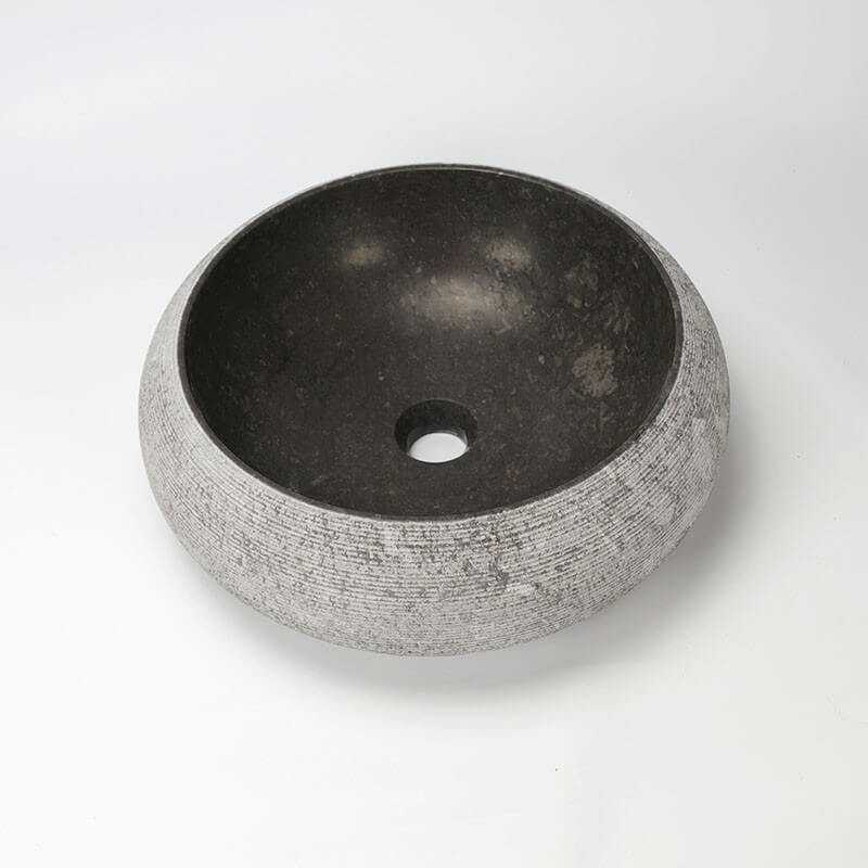 vasque poser galet pierre noire atoll vasque noire. Black Bedroom Furniture Sets. Home Design Ideas