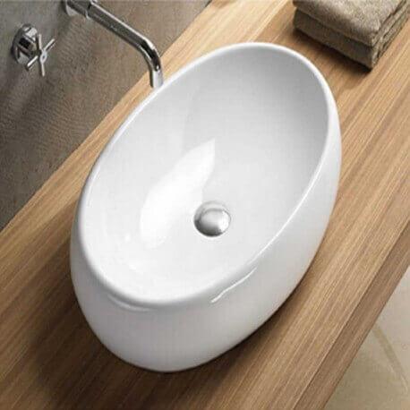 Vasque  à poser ovale céramique Swann| Rue du Bain