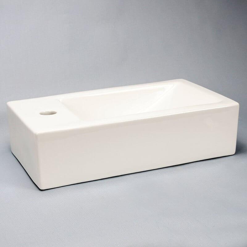 lave main rectangulaire gauche 45x25 cm studio lave main rue du bain. Black Bedroom Furniture Sets. Home Design Ideas