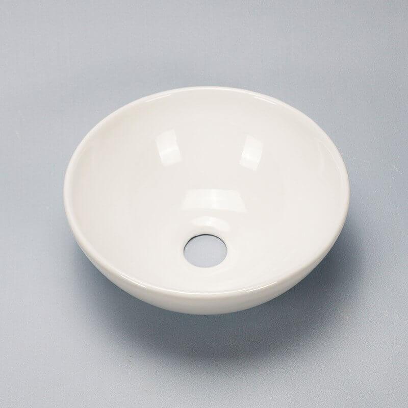 Vasque Céramique à Suspendre Avec Plage Latérale : Lave main bol céramique olys rond rue du bain