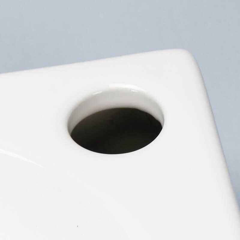 lave mains carr c ramique blanc like lave mains carr rue du bain. Black Bedroom Furniture Sets. Home Design Ideas