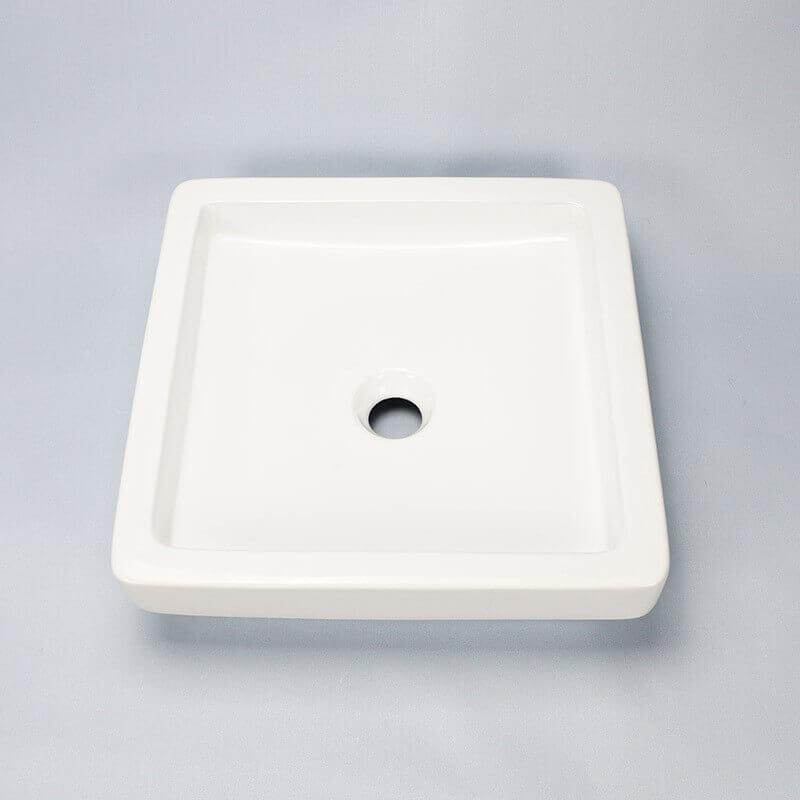 vasque semi encastr e carr e temp vasque encastrer rue du bain. Black Bedroom Furniture Sets. Home Design Ideas