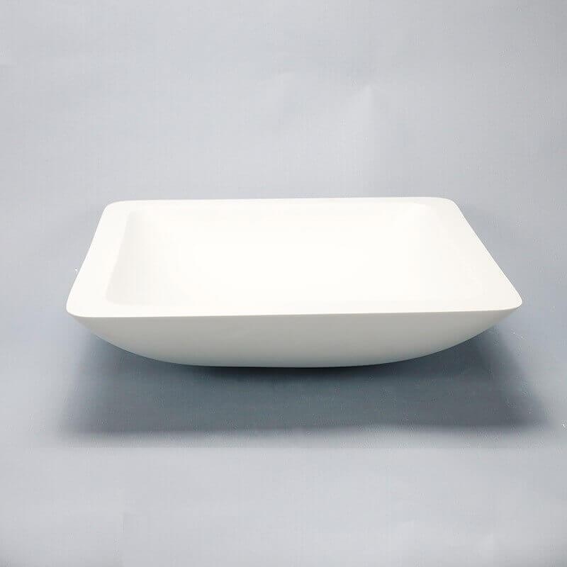 vasque carr e blanc mat xeno vasque poser composite rue du bain. Black Bedroom Furniture Sets. Home Design Ideas