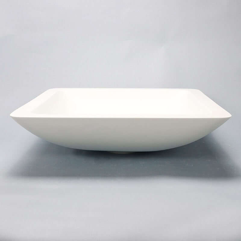 vasque poser carr e blanc mat xeno vasques composite. Black Bedroom Furniture Sets. Home Design Ideas