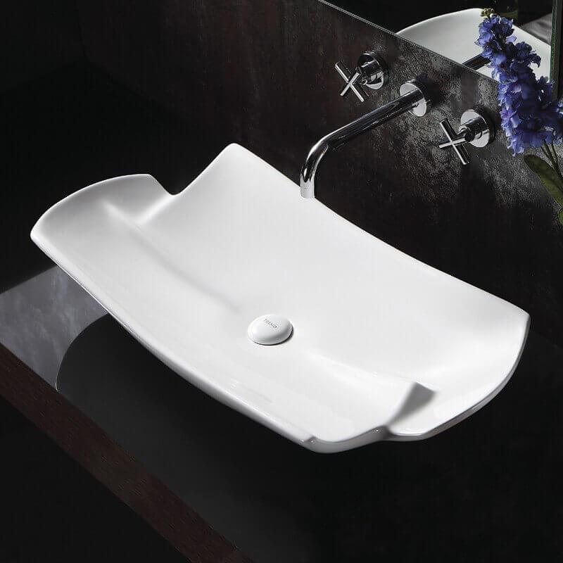 vasque asym trique blanche stage vasque poser c ramique. Black Bedroom Furniture Sets. Home Design Ideas