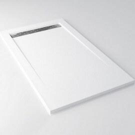 Receveur de Douche rectangulaire, 140x80 cm, composite Blanc Mat, Clas