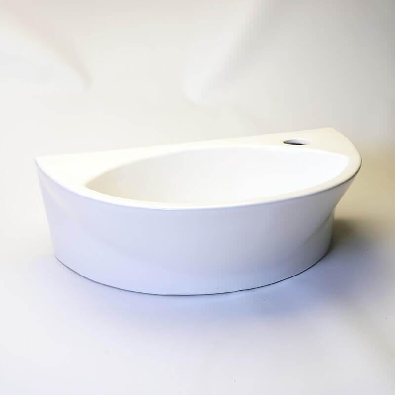 lave main ovale c ramique 43x39 cm elipse lave main rond rue du bain. Black Bedroom Furniture Sets. Home Design Ideas