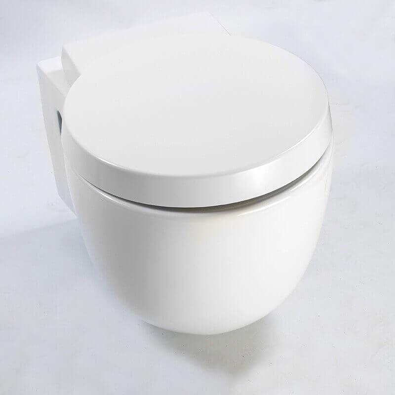 cuvette wc suspendu seau design blanc avec abattant charm. Black Bedroom Furniture Sets. Home Design Ideas