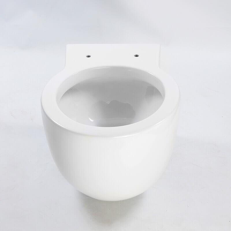 Cuvette wc suspendu seau design blanche 50x40x35 cm avec for Baignoire ilot compacte