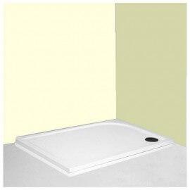 Receveur de Douche,120x80 cm, composite Blanc Like