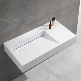 Lavabo Suspendu Rectangulaire Composite Lodge | Rue du Bain