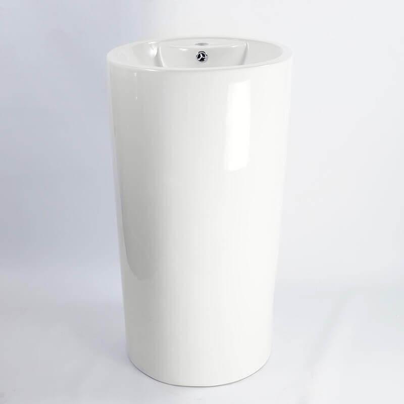 Lavabo totem cylindre c ramique sigma lavabo totem design rue du bain - Lavabo ceramique blanc ...