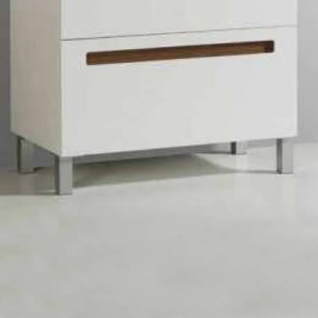 Pieds Aluminium pour meuble de salle de bain 23 cm