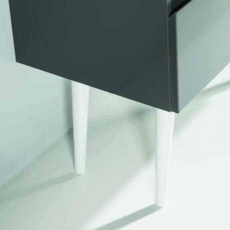 Pieds Aluminium pour meuble de salle de bain 30 cm