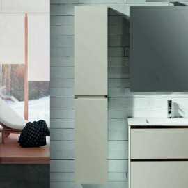 Colonne de salle de bain, 2 portes, 160x30 cm, Caramel, Mia