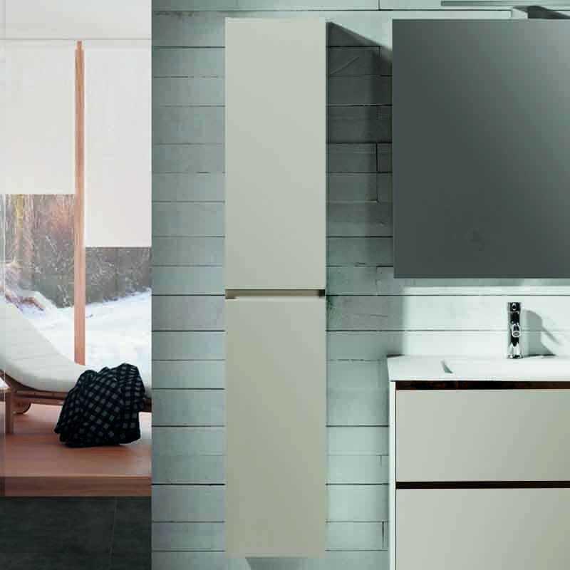 Colonne caramel 2 porte mia tiroir et armoire de rangement rue du bain - Colonne 2 portes salle de bain ...