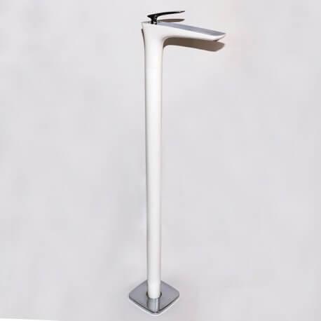 Robinet mitigeur lavabo totem sur pied blanc Concep't | Rue du Bain