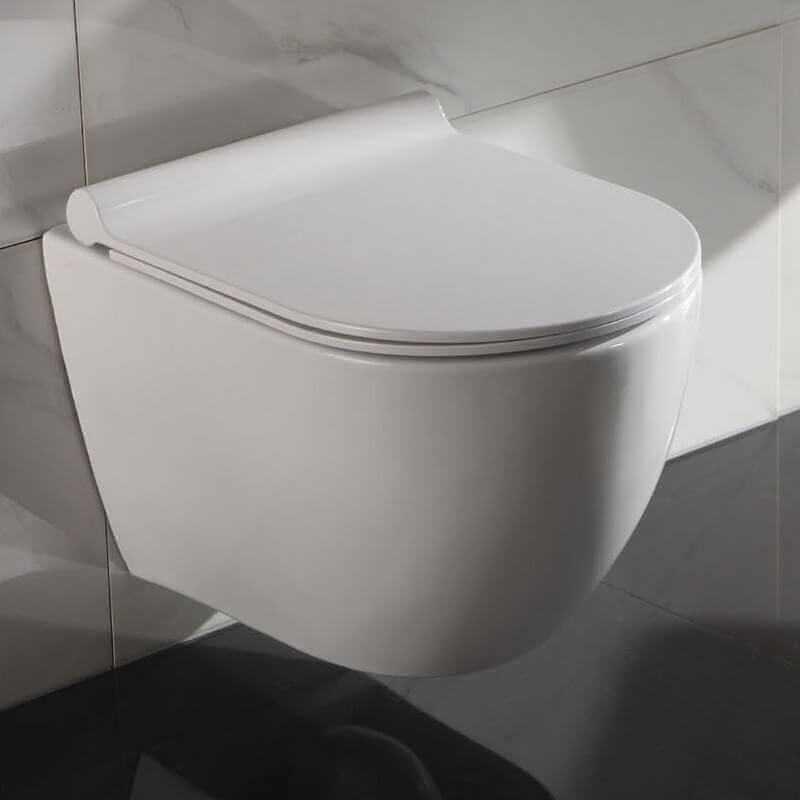 wc c ramique ovale blanc cort cuvette wc suspendu rue du bain. Black Bedroom Furniture Sets. Home Design Ideas