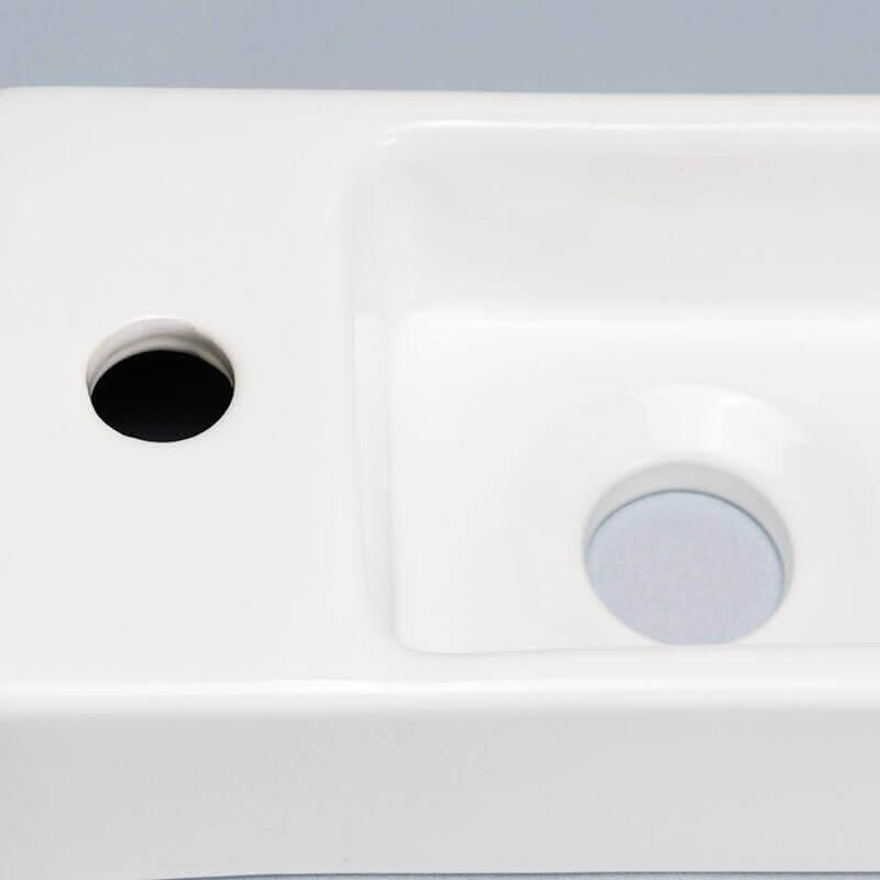 lave main c ramique blanc minimalist lave main rectangle rue du bain. Black Bedroom Furniture Sets. Home Design Ideas