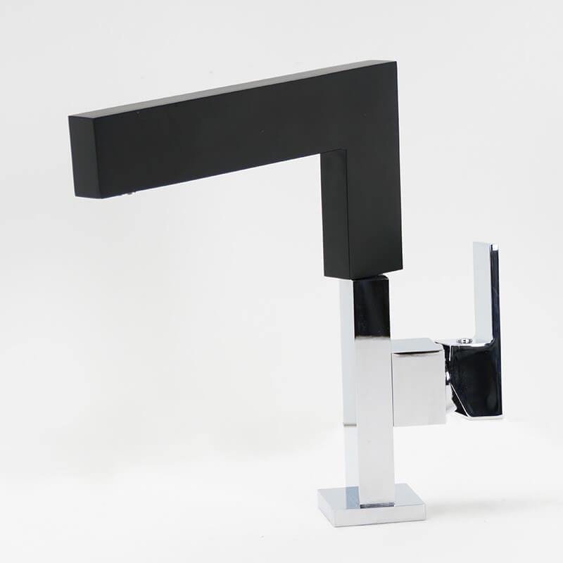mitigeur noir graphic robinet de lavabo et vasque bec haut. Black Bedroom Furniture Sets. Home Design Ideas