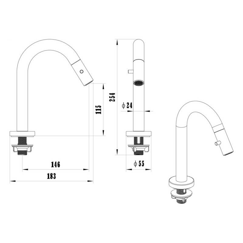 Robinet lave mains eau froide chrom up robinet bec bas rue du bain - Robinet lave main eau froide ...