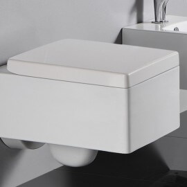 Abattant Blanc rectangulaire duroplastic pour wc KUBE